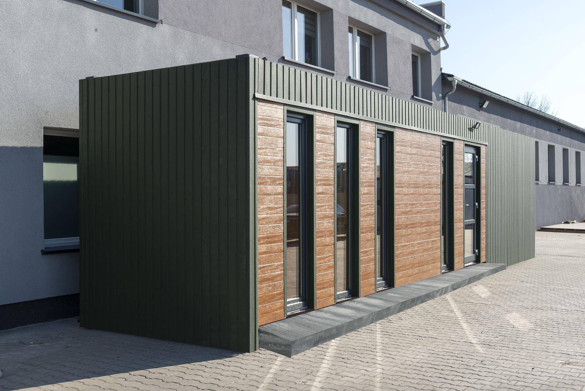 Jagdhaus mit integrierter Kühlzelle
